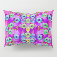 Festive metal and gold in pop-art Pillow Sham by Pepita Selles