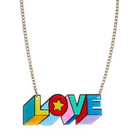 Tatty Devine Psychedelic Love Necklace at asos.com