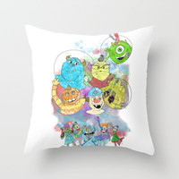 Disney Pixar Play Parade - Monsters Inc Unit Throw Pillow by Joey Noble | Society6
