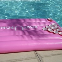 Port-o-Pong Portable Inflatable Beer Pong Table and Pool Pong Table (Pink)