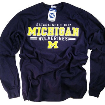 5841ce5a51d Michigan Shirt T Shirt Wolverines College University Apparel Officially  Licensed By The NCAA
