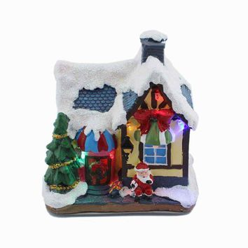 Verry Christmas Village Houses RGB LED Lighted Sculpture XMAS Holiday Collection