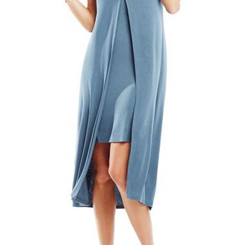 BCBGMAXAZRIA 'Audreigh' Layered Jersey Midi Dress | Nordstrom