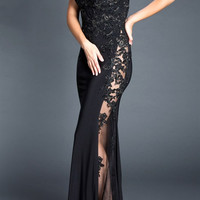 Black Label Couture 27 Evening Gown with Sheer Side Panel