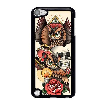 OWL STEAMPUNK ILLUMINATI TATTOO iPod Touch 5 Case Cover
