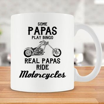 Mug For Grandpa Gift Grandpa Coffee Cup Papa Mug Motorcycle Gifts Biker Mug Granddad Gift Fathers Day Mug Grandfather Mug Ceramic Mug -SA708