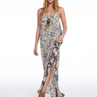 Chaser Silk Tapestry Maxi Dress