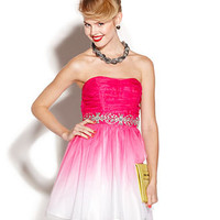 B Darlin Juniors Dress, Strapless Ombre A-Line - Juniors Prom Dresses - Macy's