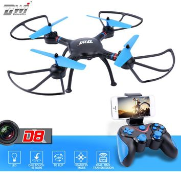 Selfie Drone with WiFi Camera HD 720P Real-time Transmission FPV Quadcopter Remote Control 2.4Ghz Helicopters Dron DWI D8