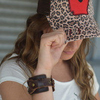 Arkansas State Hat {Cheetah Red}