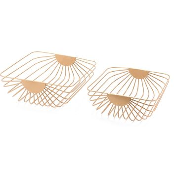 Gold Wired Trays (Set of 2)