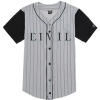 Civil Dream Team 86 Baseball Jersey - Mens Tee - Grey