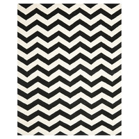 You should see this Chatham Chevron Ivory & Black Rug on Daily Sales!