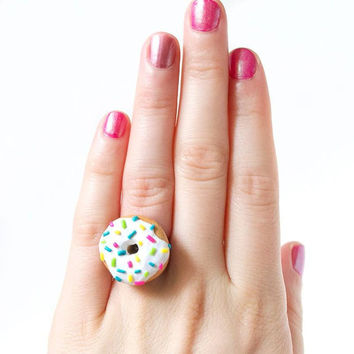 Rainbow Sprinkle Donut Ring