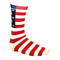 USA Flag Crew Socks | Lacrosse Socks | Lacrosse Clothing  | LaxWorld.com