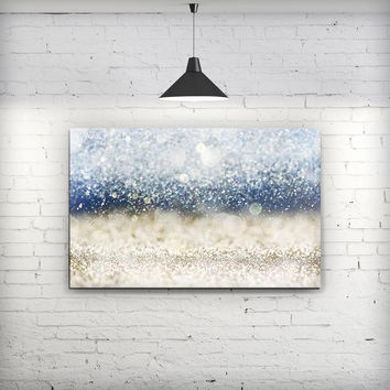 Unfocused Blue and Gold Sparkles - Fine-Art Wall Canvas Prints