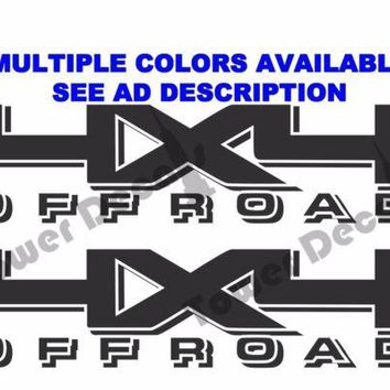 4X4 OFFROAD TRUCK BED SIDE DECAL FITS CHEVY DODGE FORD NISSAN TOYOTA RAM TITAN