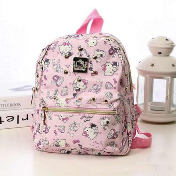Free shipping preppy style hello kitty school backpack mini my melody bag High quality PU male waterproof gift for children