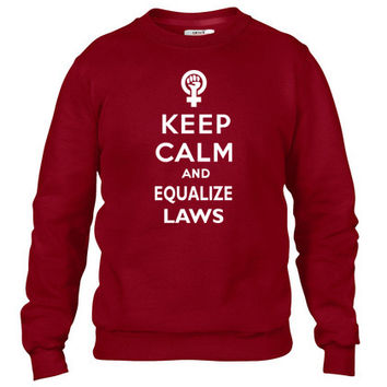 Keep Calm and Equalize Crewneck sweatshirt