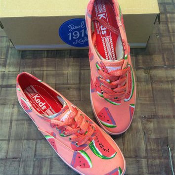 Watermelon Pattern Summer Fashion Style Shoes for Women