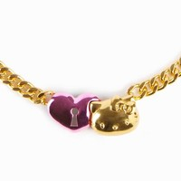 Onch x Hello Kitty Necklace: Heart Lock