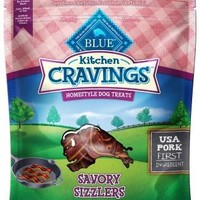Blue Kitchen Cravings Pork Sizzlers Dog Treats 6 oz