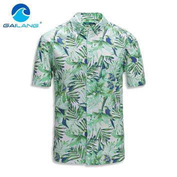 Gailang Brand Summer Hawaiian Men's Hawaii Beach Shirt prints Loose Casual T Shirts Style Short Sleeve T Shirts Top Tees Fashion
