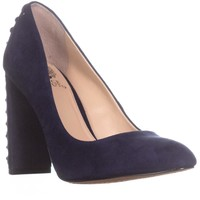 Vince Camuto Dallan Back Lace Up Heels, Navy Haze, 7.5 US