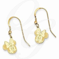 Gold-Plated SS Disney Minnie Dangle Wire Earrings