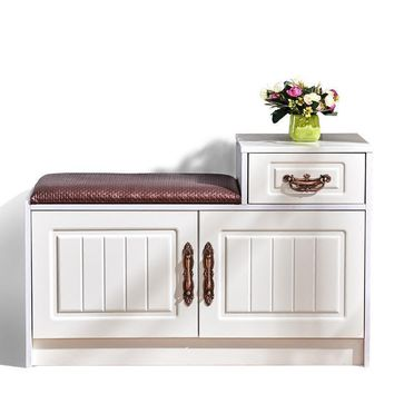 European 2 Cabinet Shoe Storage Bench