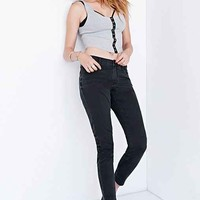 One Last Road X RTA Relaxed Skinny Jean - Washed Black- Washed Black