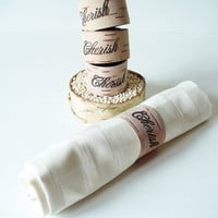 Rustic Napkin Ring Birch Bark Hand Stamped by jadenrainspired