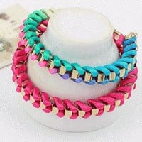 Weaved Colors Fashion Bracelets (Set of 2) | LilyFair Jewelry