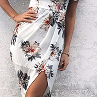 Cindy Willow Off-the-Shoulder Tropical Dress