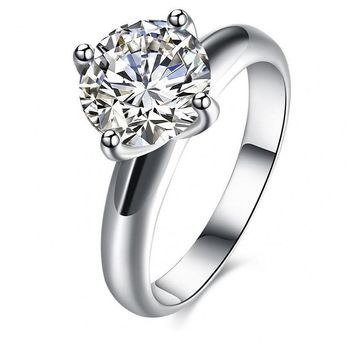 Classic Zircon Wedding Ring For Women