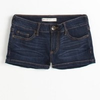 Bullhead Black Womens Basic Clean Hem Dark Wash Shorts $32.50