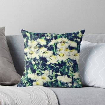 'Chamomile 2' Throw Pillow by RoxanneG