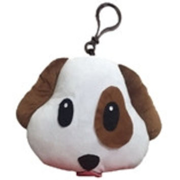 Puppy Dog Emoji Keychain
