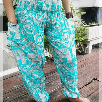 Plus size tribal print pants