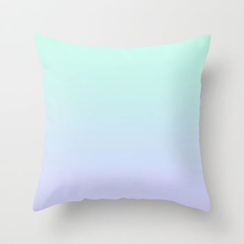 Lilac & Aquamarine Ombre Throw Pillow by Jamie Danielle