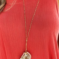 All About The Stones Necklace: Gold/Multi