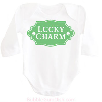 Boys Lucky Charm Shirt Shamrock Shirt Irish Baby Boy Outfit My First St. Patrick's Day Ireland Clover OnePiece My 1st St Patricks Bodysuit