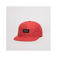 Vooray Floral Snapback Hat Red