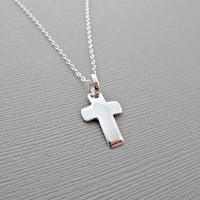Silver Cross Necklace, Cross Necklace