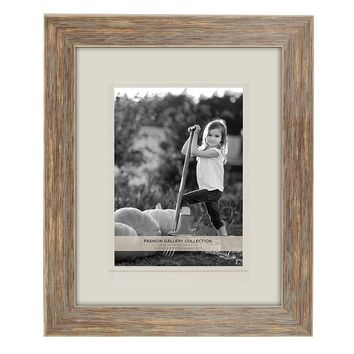 Belle Maison Distressed 5'' x 7'' Matted Frame