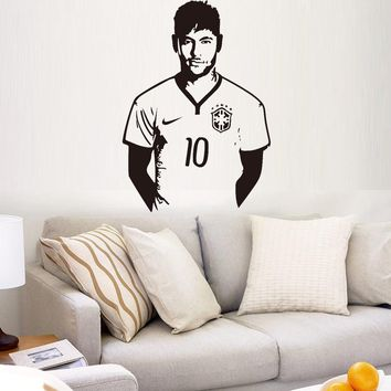 Aw9410 Football Hall of neymar boys bedroom home decor wall stickers removable carved stickers liveroom free shipping