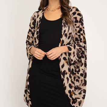 Animal Print Cardigan,Womens Dusters, Shawls, Capes and Much More