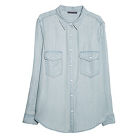 Buy Violeta by Mango Tencel Shirt | John Lewis
