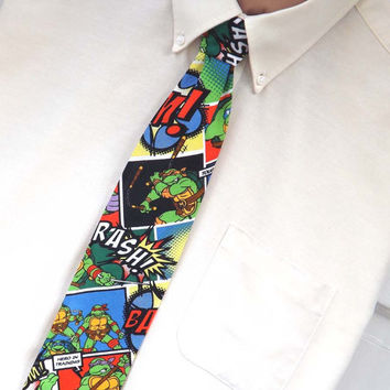 Teenage Mutant Ninja Turtle Comic Necktie TMNT Neck Tie