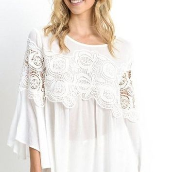 Palisades White Blouse